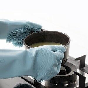 Image 3 - Youpin Jordan & Judy Magic Silicone Găng Tay Vệ Sinh Nhà Bếp Tạo Bọt Cách Nhiệt Găng Tay Nồi Chảo Lò Nướng Găng Tay Hở Ngón Nấu Găng Tay