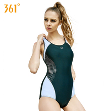 Купить с кэшбэком 361 Professional Sport Swimsuit Women Sexy One Piece Swimwear Triangular Piece Swimsuit with Padded Swimsuits Women Summer 2018