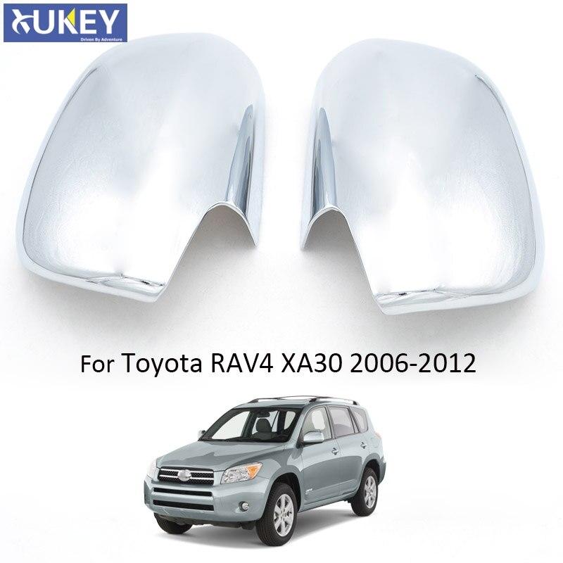 For 2006 2007 2008 2009 2010 2011 2012 TOYOTA RAV4 2 Chrome FULL Mirror Covers