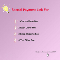 Link For Special Fee Extra Shipping Fee Custom Fee Rush Order Fee Other Fee Happy Moment