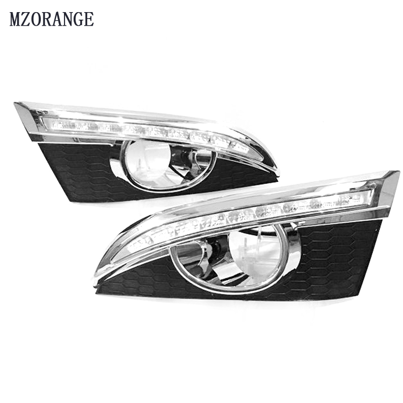 MZORANGE For CHEVROLET CAPTIVA 2011 - 2013 Turn Signal Relay Car-styling 12V LED DRL Daytime Running Lights with fog lamp hole okeen 2pcs high quality led drl for ford raptor f150 2010 2011 2012 2013 2014 daytime running lights with turn signal lamp 12v