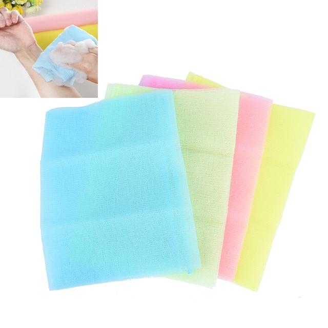 Nylon Japanese Exfoliating Beautiful Skin Bath Shower Wash Cloth Towel Back Scrub Body Cleaning Washing Sponges& Scrubbers 5