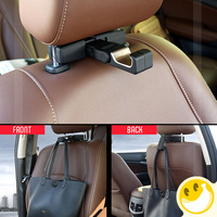 Multifunctional Car Seat Headrest Stand Holder Hooks Hanger Organizer Bag Coats Bracket Stands