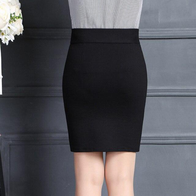2019 New Women Skirt Work Fashion Stretch Slim High Waist Pencil Skirt Bodycon Sexy Mini Office Work Skirt Free Shipping 3