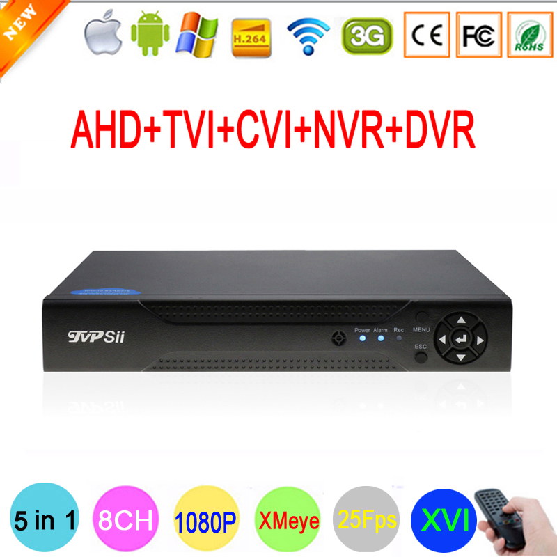 XMeye APP Hi3531A 8 Channel 8CH 1080P 2MP Full HD 25FPS Real-time Hybrid Coaxial 6 in 1 TVI CVI NVR AHD CCTV DVR Free Shipping silver panel hi3521a 5 in 1 xmeye 4 channel 4ch 1080p 2mp 25fps realtime hybrid coaxial nvr tvi cvi ahd cctv dvr free shipping