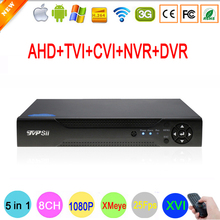 XMeye APP Hi3531A 8 Channel 8CH 1080P 2MP Full HD 25FPS Real-time Hybrid Coaxial 6 in 1 TVI CVI NVR AHD CCTV DVR Free Shipping