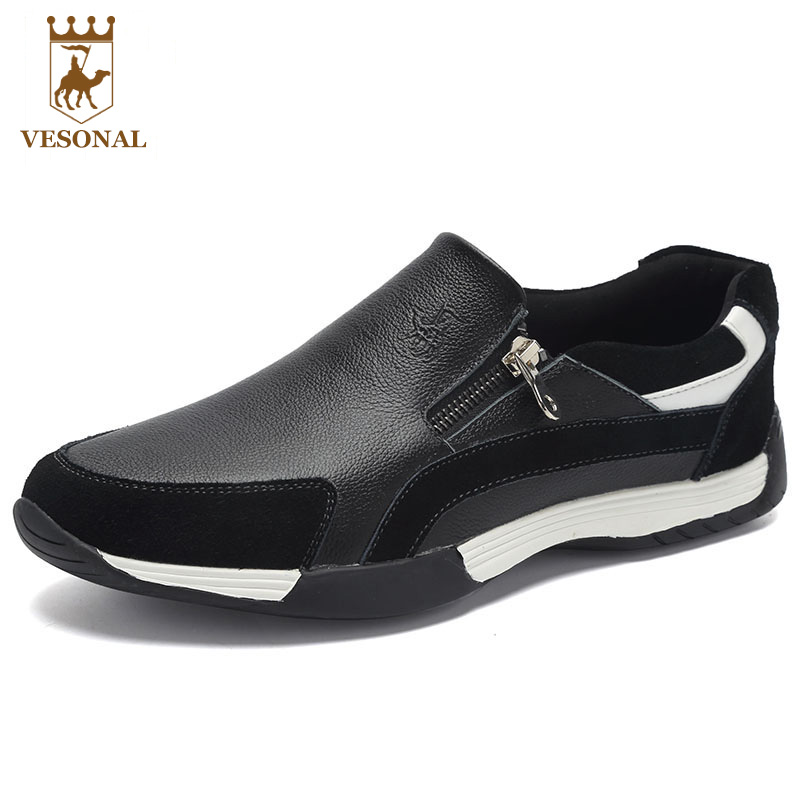 VESONAL Footwear Brand Men Shoes Casual Male Moccasins Driving For Ons Popular Quality Walking Soft Genuine Leather Loafers Man vesonal brand casual shoes men loafers adult footwear ons walking quality genuine leather soft mocassin male boat comfortable