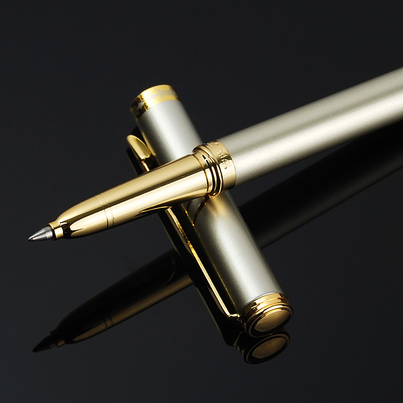 0.5mm Brand Metal Roller Ball Pen Luxury Ballpoint Pen For Business Writing Gift Office School Supplies Free Shipping 3202 new fashion women pu leather shoulder bags vintage tassel female messenger bag ladies handbag clutch bags bolsa feminina dec28
