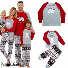 Семейный комплект рождественских пижам; рождественское ночное белье с капюшоном для женщин и мужчин; одежда для сна; коллекция года; Модный новогодний милый Пижамный набор