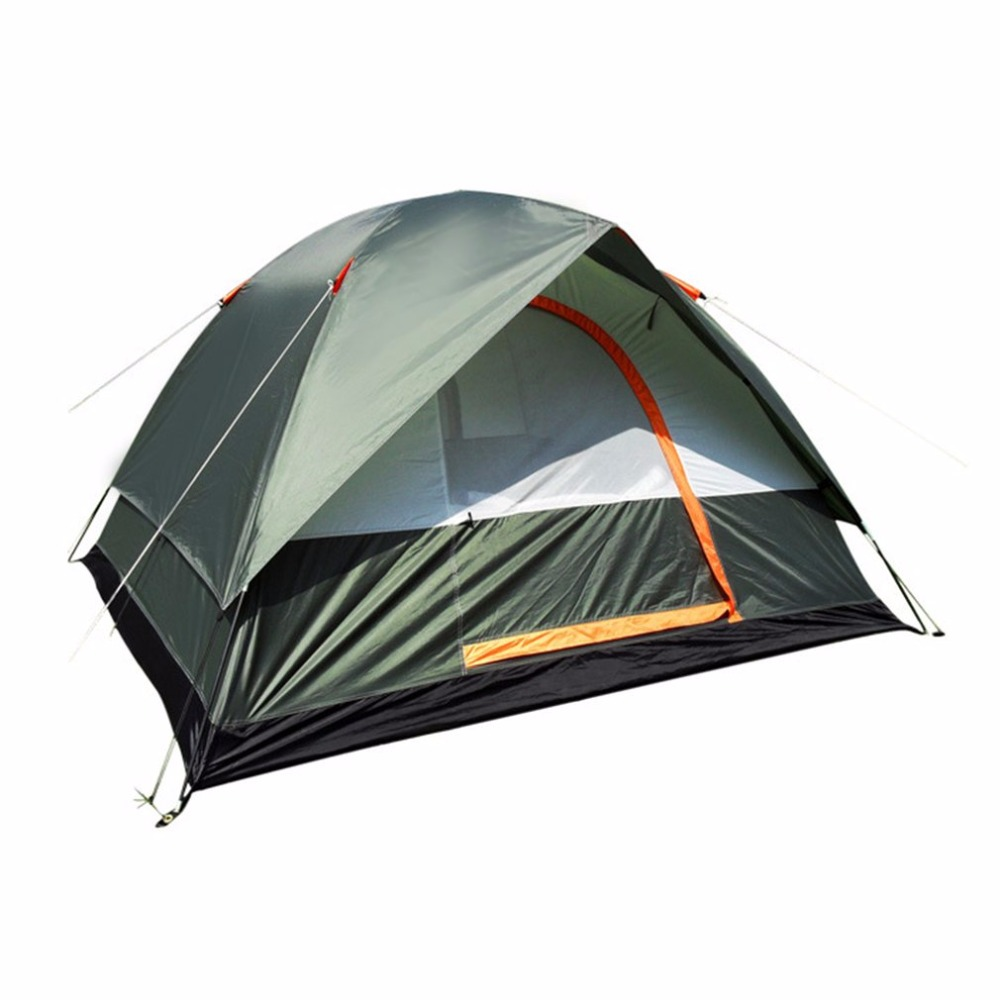 Waterproof Outdoor Camping Hiking Polyester Oxford Cloth Dual Layers Tent Portable 4 People Travel Climbing Tent ebtb wallz one old bronze