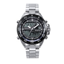 Luxury Men Watches North Brand Sport Watch Alarm Clock Chrono Stainless Steel Digital Noctilucent Outdoor Military Quartz-watch