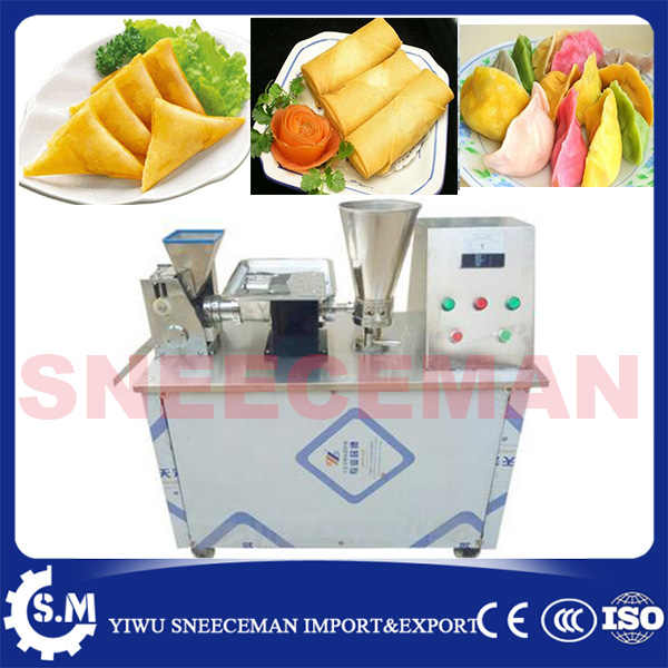 6000pcs/h 220v 110v electric automatic dumpling maker machine samosa maker spring roll machine with  conveyor belt