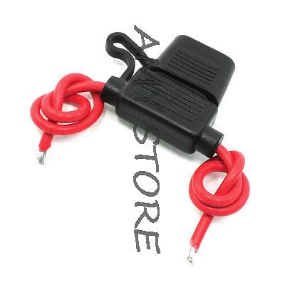 Waterproof in Line 14# AWG Cable Blade Fuse Holder 12V 15A for Car 12 gauge atc fuse holder box in line awg wire copper 12v 30a blade standard plug socket pack of 5