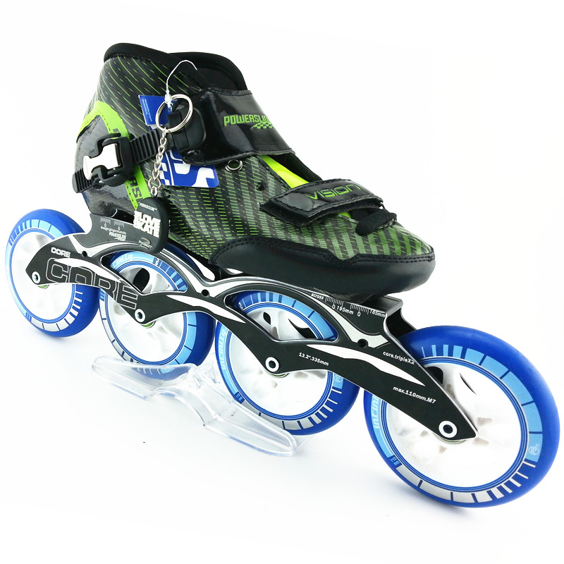 все цены на PS inline skating shoes Professional racing skate shoes adult child roller skates with skating wheels CORE speed skate frame онлайн