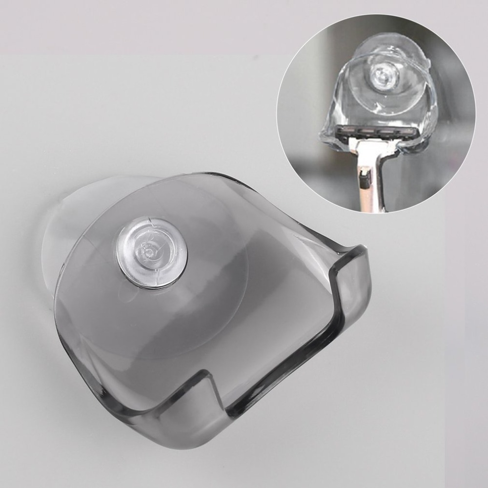 Home Accessories Wall-Sucking Razor Holder Bathroom Stand Toothbrush Shaver Cap Shower Razor Holder