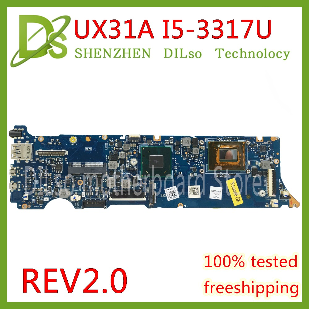 KEFU UX31A For ASUS UX31A UX31A2 Laptop motherboard UX31A i5-3317U CPU 4G RAM REV2.0 UX31A mainboard Test original zenbook for asus ux31a laptop motherboard ux31a rev2 0 mainboard processor i7 4g memory 100