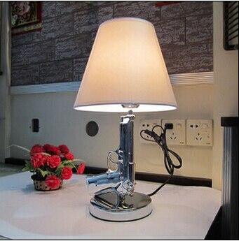 Rt Decorative Gold AK47 Lamp Modern Gun Table Lamp Bedroom Abajur De Mesa  Beside Lampara Office