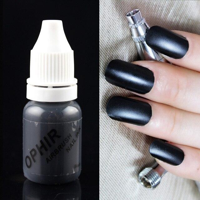 OPHIR Airbrush Nail Ink for Nail Stencil Art Polishing 10 ML/Bottle Temporary Tattoo Pigment _TA098(1-12)