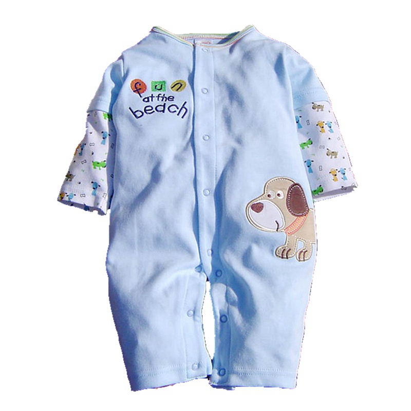 Cute Puppy Long Sleeve Toddler Rompers Bebes Kids Overalls Body Bebe Roupa Infantil Baby Boy Romper Newborn Baby Boy Clothes maggie s walker baby rompers outfits boys long sleeve banana luxury organic cotton climb clothes toddler girls roupa infantil