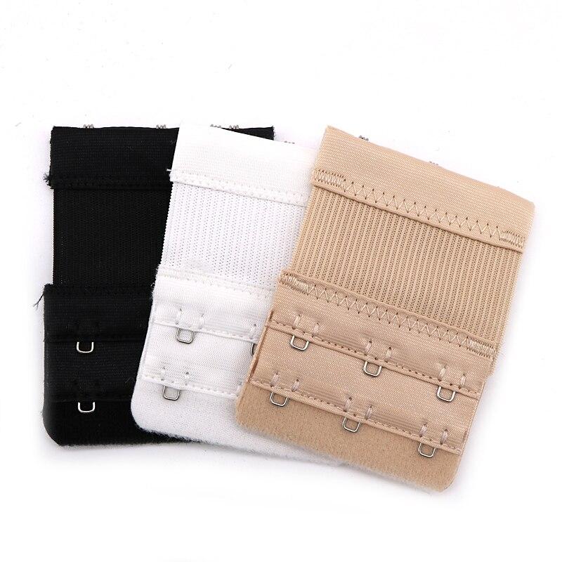 Lady/'s Bra Extender 2 Hooks//3 Hooks 2pcs-Pack Multi-size,3 Colors black, 2 hooks