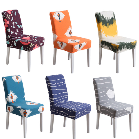1PC Flower Printing Removable Chair Cover Stretch Elastic Slipcovers Restaurant For Weddings Banquet Folding Home Chair Covering Pakistan