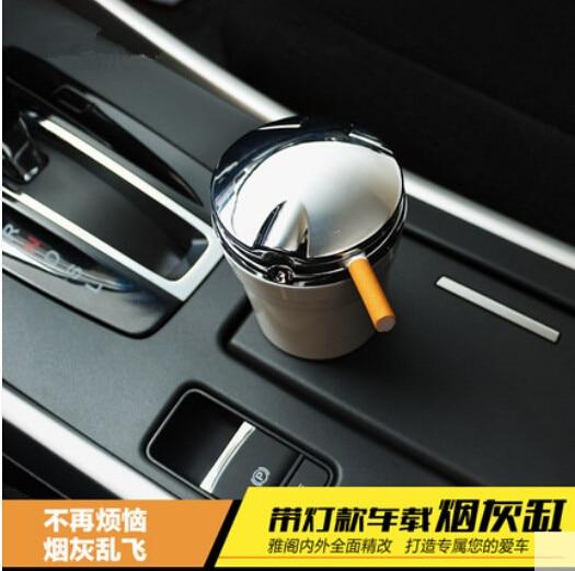 Car-Styling Car Cigarette ashtray with LED lamp For Mitsubishi ASX Outlander Lancer Colt Evolution Pajero Eclipse Grandis