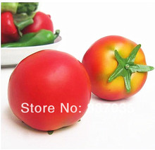 6X6.5cm Fake Tropical fruit wholesale factory direct simulation decorative props big tomato model Arts& Crafts Photo shoot props