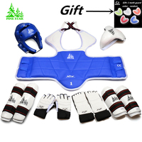 9 pieces taekwondo protectors full set of child adult Helmet Chest head protector Armguards Shank protector Crotch