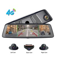 zuczug 360 degree panoramic 4CH Cameras lens 10 Touch Android Navi car camera gps rear view mirror dvr drive recorder ADAS WIFI