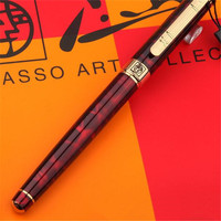 1pc/lot Red Pen Gold Clip Picasso 902 Fountain Pen Pimio Canetas Picasso 902 High Quality School Supplies Stationery 13.6*1.3cm