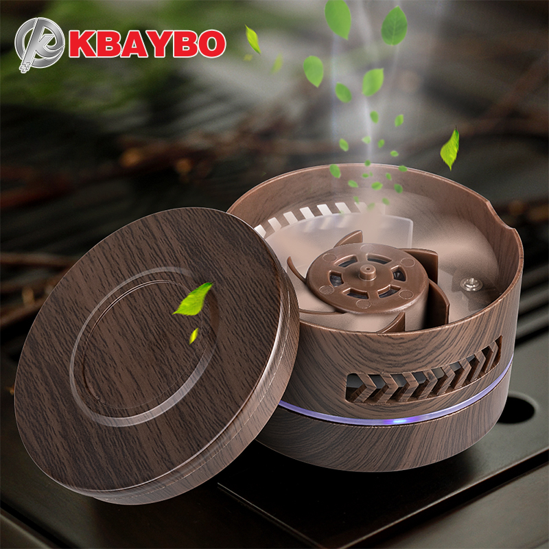 KBAYBO Mini aroma diffuser fragrance air purifier essential oil diffuser wood grain replaceable battery air cleaner in car home