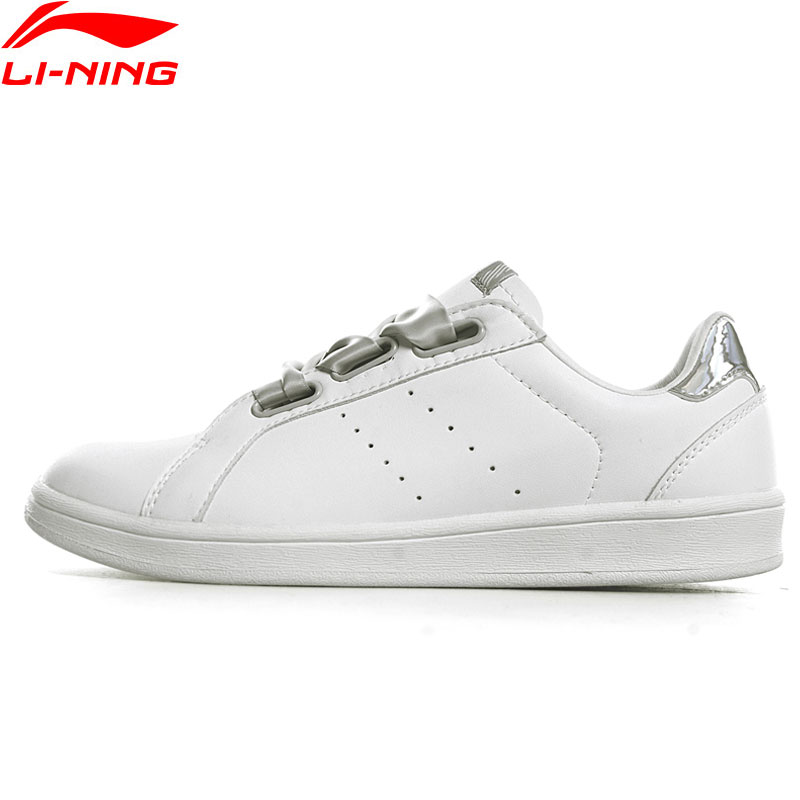 Li Ning Women Sports Life Walking Jogging White Ribbon Shoes Breathable Leisure Sneakers LiNing Sports Shoes