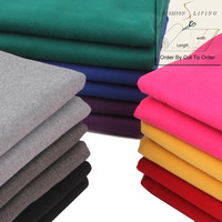 150cm Wide Faux Wool Apparel Fashion Fabric Double Faced Fleece Coat Fabric Craft Fabric By The