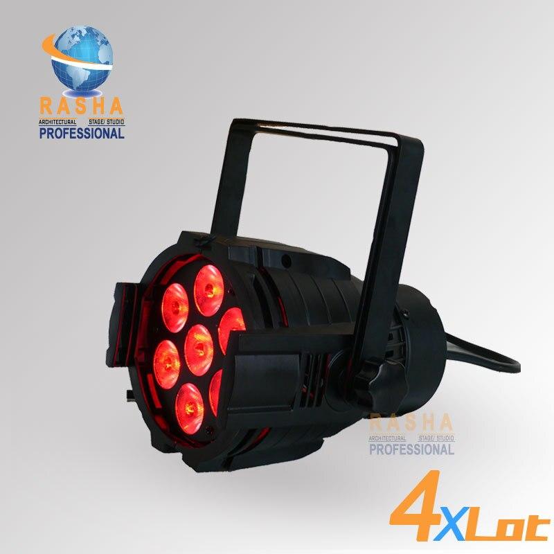 4X LOT Rasha 7*10W 4in1 RGBW Mini Aluminum LED Par Light LED Mega Par38,Stage Light RASHA LED Par Light цена