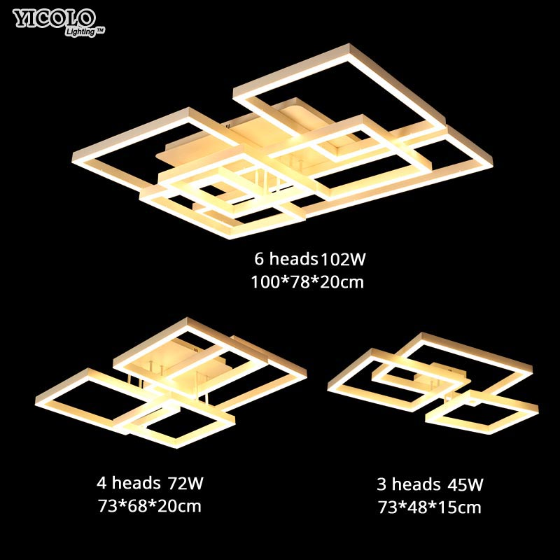 Surface mount Ceiling Lights with remote control or switch led lamp for living room bed room home Decorative Lampshade de techo