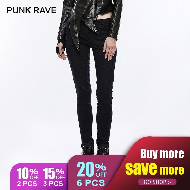 Punk En Avec Black Lacé Femmes Style Foncé Gothique Difficulté Noir Pantalon Rave Industriel De Ok 310xcf Denim Slim pr8Wwgqp