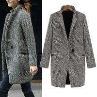 Outerwear & Coats Jackets Women Slim Winter Warm Wool Lapel Long Trench Parka Overcoat coats and jackets women 2018Sep28
