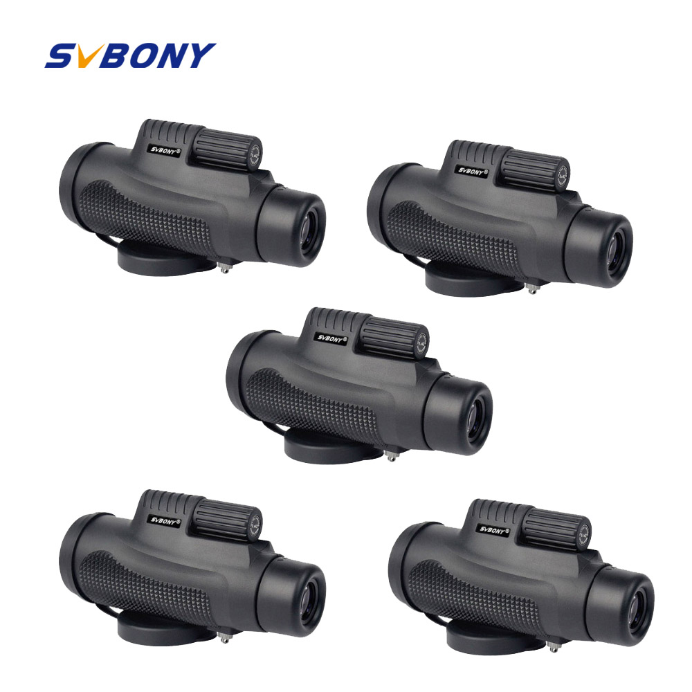 5pcs SVBONY Monocular Telescope 8x42 Waterproof Fogproof Camping Hand Focus Travel Monocular for Hiking Camping F9116AB монокуляр celestron oceana 8x42 monocular