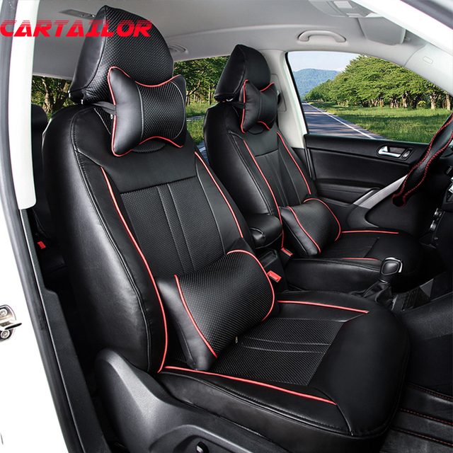 CARTAILOR Car Styling Seat Cover Custom For BMW X5 Car Seat Covers Black PU  Leather Seat