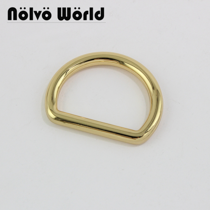 50pcs 4 Colors,wire6mm,38X30mm 1.5 Inch Closed Big D Rings,alloy Metal Welded 3.8cm Large Dee Rings For Purse Making