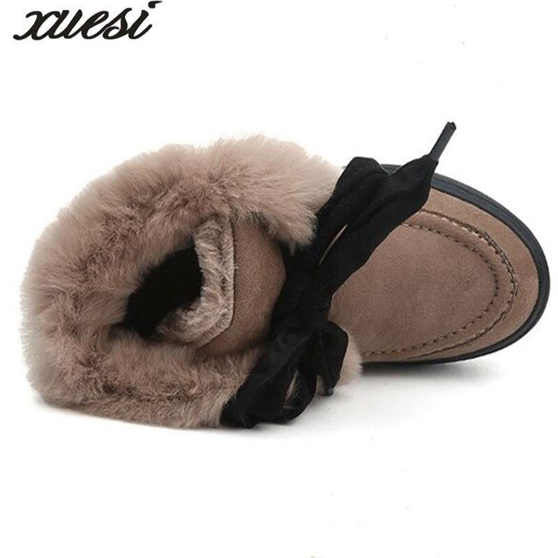 XUESI New Winter Plush Velvet Martin Boots Women Korean Warm Snow Boots Fashion Casual Shoes Woman Zapatos Mujer
