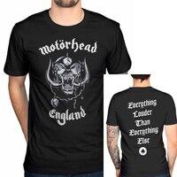 Motörhead England T-shirt männer gedruckt kurzarm reiner baumwolle lässige t UNS plus größe S-3XL