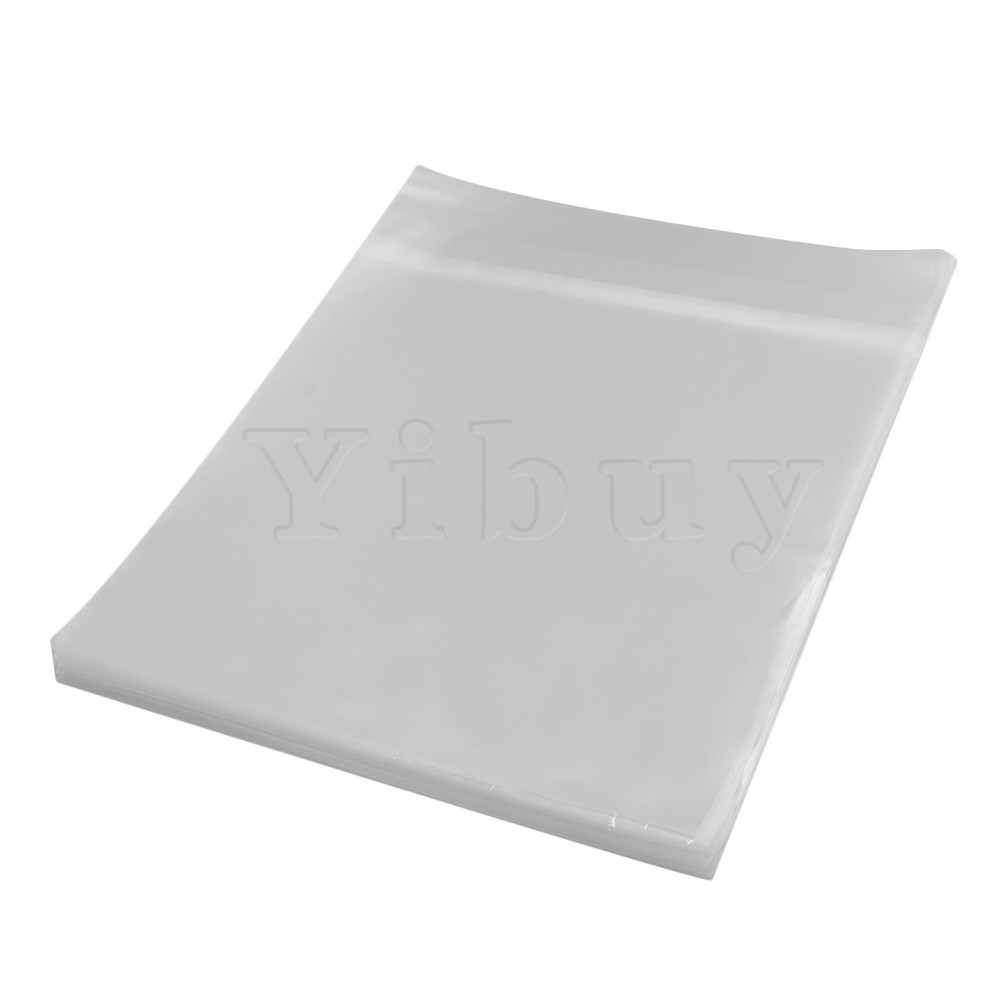 Yibuy 12 Inches Plastic Thickening Crystal LP Vinyl Record Outer Sleeves Envelope Covers Anti-static Pack of 100