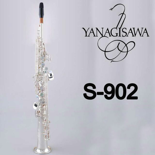 Новый Янагисава сопрано S 902 серебрение саксофон профессиональный мундштук патчи колодки Reeds изгиб шеи