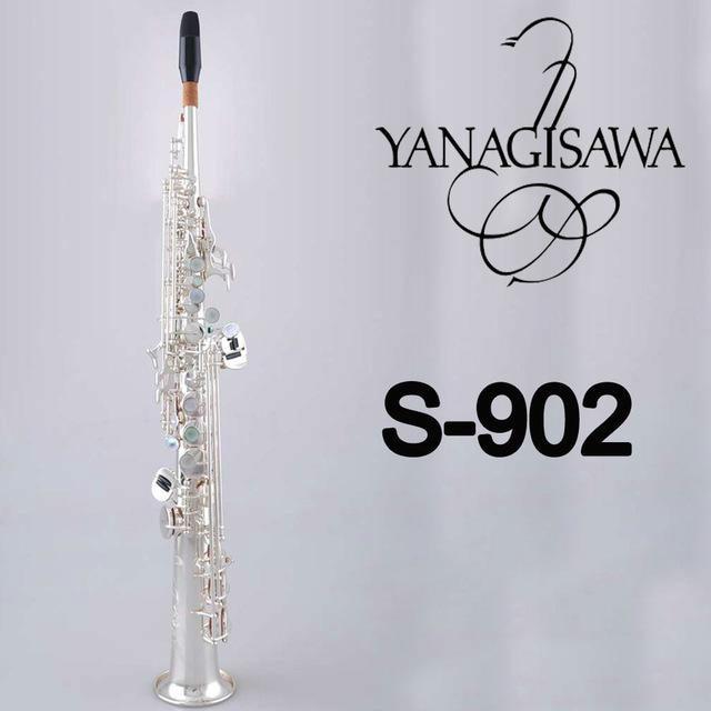 New YANAGISAWA Soprano Saxophone S-902 Silvering Sax Professional Mouthpiece Patches Pads Reeds Bend Neck morgan vintage model soprano saxophone mouthpiece 7