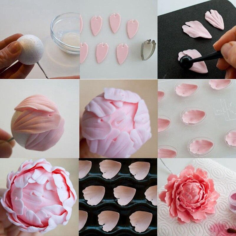 Stainless Steel Peony Flower Cut Pattern Mold Polymer Clay Tools Klei Model Arcilla Polimerica Keramiek Gereedschap Cutter