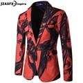 Homens de Cor Da Moda de luxo Pintura Ternos Para Homens Slim fit traje homme Blazer Vestido Terno de Alta Qualidade homens blazer designs