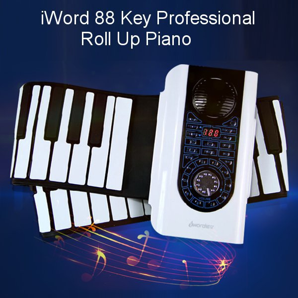 buy iword 88 key professional roll up piano with midi keyboard hand rolled. Black Bedroom Furniture Sets. Home Design Ideas