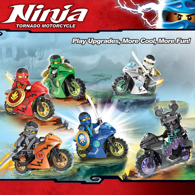 6PCS Ninja Compatible Legoe Ninjagoed Thunder Sworosman Cool DECOOL Building Blocks