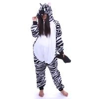 New 2017 Retail New Adult Unisex Cute Pinto Hoodie Zebra Pajamas Costume Cosplay Animal Party All Saints' Day Onesie Sleepwear